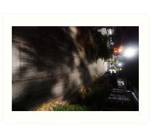 Night Scene Six - Street Shadows Art Print