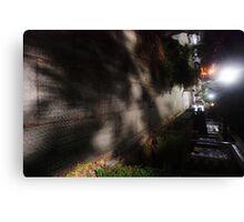Night Scene Six - Street Shadows Canvas Print