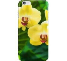 Tropical Impressions - Golden Yellow Orchids iPhone Case/Skin
