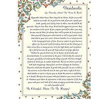 desiderata poem, florentine medici Photographic Print
