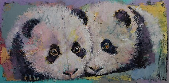 Baby Pandas by Michael Creese
