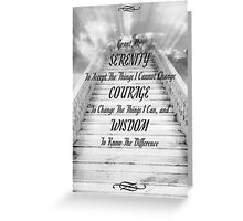 the serenity prayer on the stairway to heaven Greeting Card