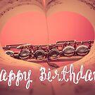 Happy Birthday - Flautist, Pink by garigots
