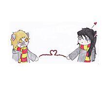 Chibi Wolfstar: Long distance love by MuninDatter
