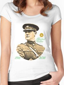 Michael Collins 1916-2016 Women's Fitted Scoop T-Shirt