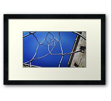 Twisted metal Sculpture in the Gothic Quarter of Barcelona Framed Print