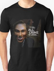 One night a year all crime are legal Unisex T-Shirt