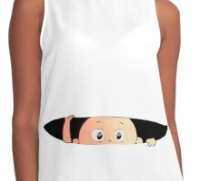 Peeping Baby - Pregnant Mother Contrast Tank