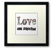 Love One Direction Framed Print