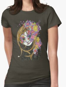 Flowerly Womens Fitted T-Shirt