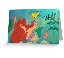 Ariel and her bff Greeting Card