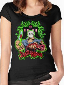 House of Splatter (Green Edition) Women's Fitted Scoop T-Shirt