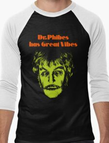 Dr.Phibes has Great Vibes Men's Baseball ¾ T-Shirt