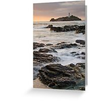 Godrevy Lighthouse, Cornwall, England Greeting Card