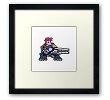 Pixel Zarya Framed Print