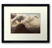 Redeemer in the Clouds, Rio De Janeiro, Brazil Framed Print