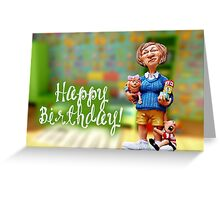 Happy Birthday - Preschool Teacher  Greeting Card