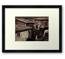 Old rustic Venetian houses antique architecture art photo print Framed Print