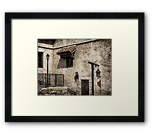 Old rustic house grungy wall and window art photo print Framed Print
