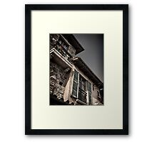 Windows of old Venetian houses art photo print Framed Print