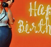Happy Birthday - Secretary / Receptionist Sticker