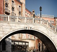 Bridge over canal Venetian architecture details art photo print by ArtNudePhotos
