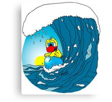 """Rick the chick """"SURFING"""" Canvas Print"""