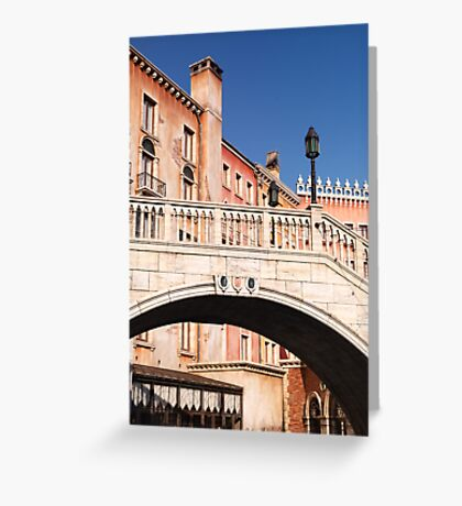 Arched bridge Venetian architecture details art photo print Greeting Card