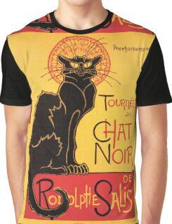 Le Chat Noir Vintage Poster Graphic T-Shirt