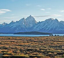 Sunset on Grand Teton by Travellust