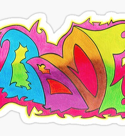 BAMF graffiti style Sticker