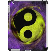 Yin-Yang Purple Green Enso Zen iPad Case/Skin