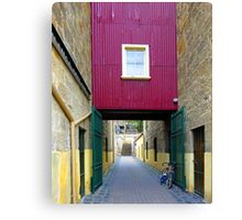 Lane way, and Bicycle Canvas Print