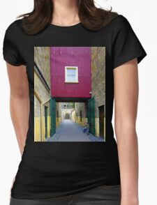 Lane way, and Bicycle Womens Fitted T-Shirt