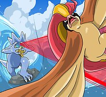 Golduck VS Pidgeot by Edward Dippolito