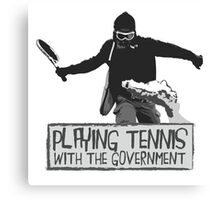 Playing Tennis Canvas Print