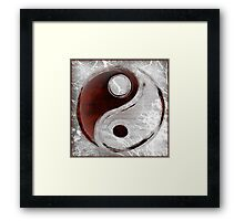 Yin-Yang Transparency Framed Print