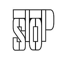 Cool Stop Text Logo Photographic Print