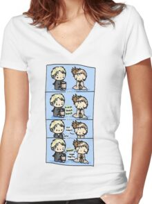 master and doctor Women's Fitted V-Neck T-Shirt