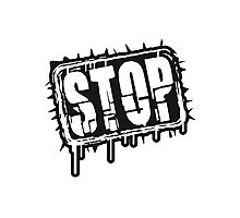 Cool Stop Stempel Design Photographic Print