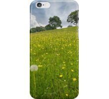 Buttercup field Wales iPhone Case/Skin
