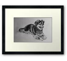 A Little Boys' Best Friend Framed Print