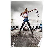 Flag girl Poster