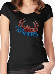 Superhero Football teams - The New York Queens Spiders Women's Fitted Scoop T-Shirt