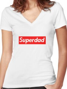 Superdad Women's Fitted V-Neck T-Shirt