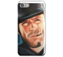 Portrait painting of Clint Eastwood iPhone Case/Skin