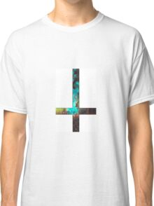 Green Galaxy Inverted Cross White Classic T-Shirt