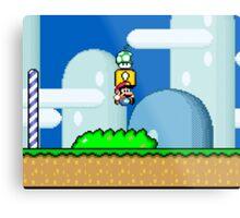 Mario Bros. 1Up Apple Metal Print