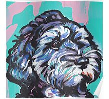 Cockapoo Dog Bright colorful pop dog art Poster