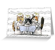 carols by kittens Greeting Card